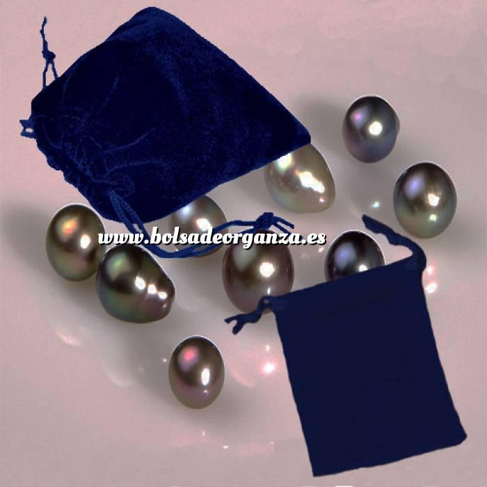 Imagen Bolsa de Antelina 7x9 Bolsa de Antelina Azul 7x9 capacidad 7x7 cms