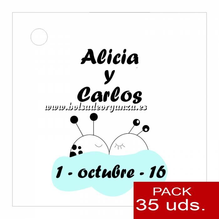 Imagen Etiquetas personalizadas Etiqueta Modelo A08 (Paquete de 35 etiquetas 4x4)