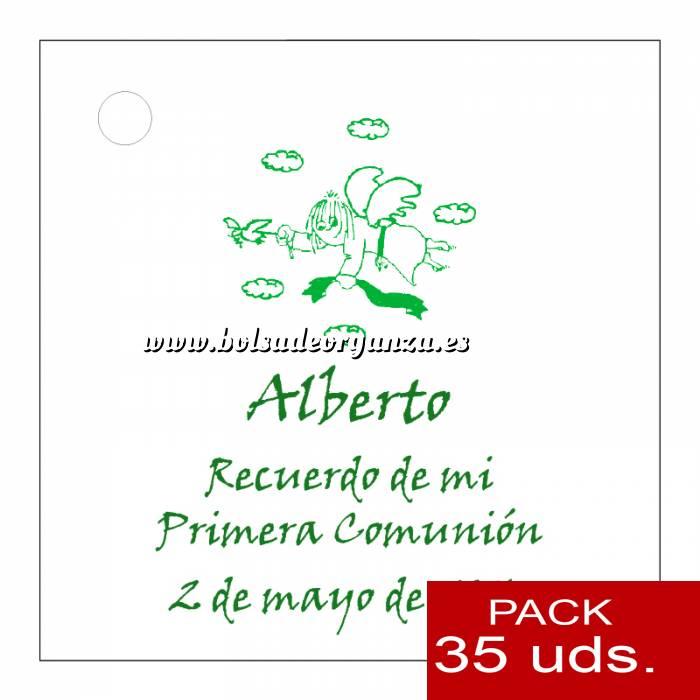 Imagen Etiquetas personalizadas Etiqueta Modelo A19 (Paquete de 35 etiquetas 4x4)
