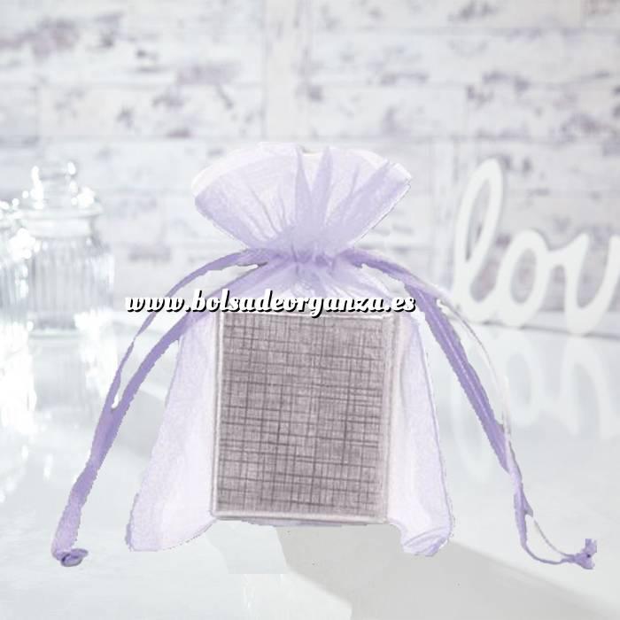 Imagen Tamaño 12x14 cms. Bolsa de organza Lila 12x14 capacidad 11x11 cms.