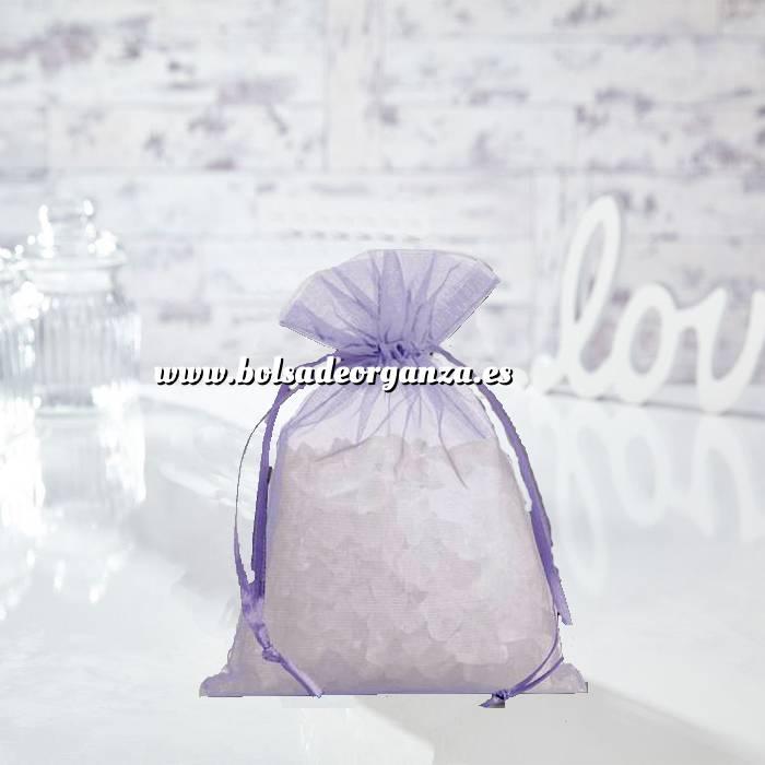 Imagen Tamaño 14x17 cms. Bolsa de organza Lila 14x17 capacidad 13x13 cms. (Últimas Unidades)