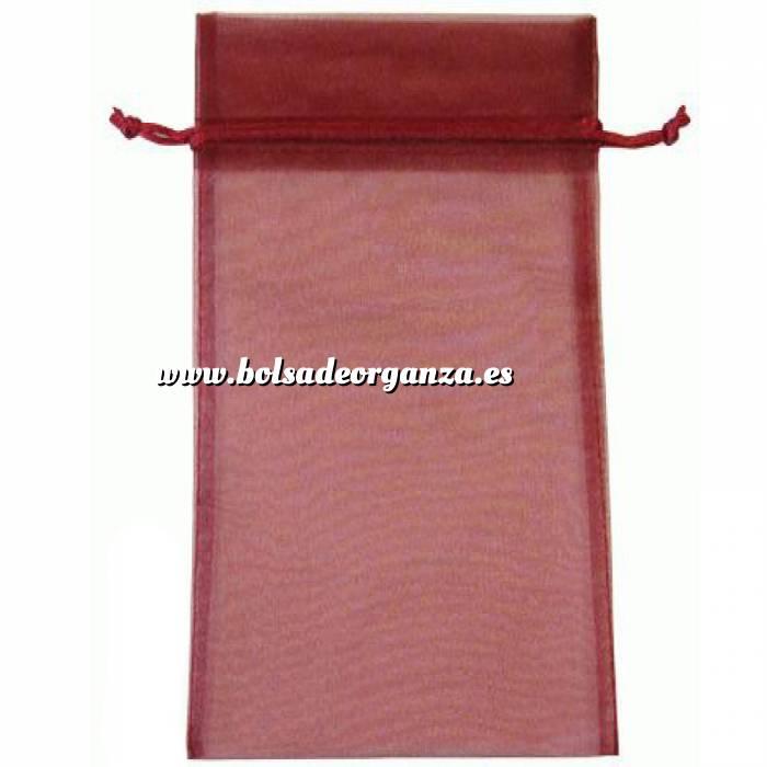 Imagen Tamaño 15x36 cms. Bolsa de organza Burdeos 15x36 capacidad 15x31 cms.