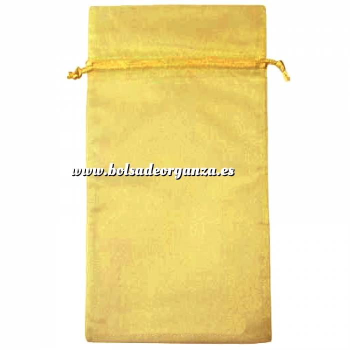 Imagen Tamaño 15x36 cms. Bolsa de organza Dorada 15x36 capacidad 15x31 cms.
