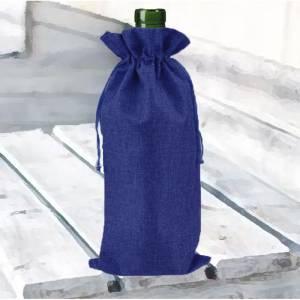 Bolsas de Yute 16x36 cm - Bolsa de Yute Azul Marino 16x36 capacidad 15x31 cms.