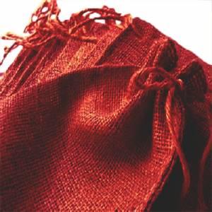 Imagen Bolsas de Yute 16x36 cm Bolsa de Yute Burdeos 16x36 capacidad 15x31 cms.
