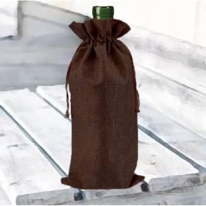 Bolsas de Yute 16x36 cm - Bolsa de Yute Marrón Chocolate 16x36 capacidad 15x31 cms.