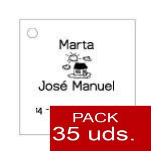 Imagen Etiquetas personalizadas Etiqueta Modelo A06 (Paquete de 35 etiquetas 4x4)