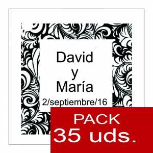 Etiquetas personalizadas - Etiqueta Modelo A13 (Paquete de 35 etiquetas 4x4)