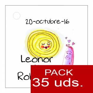Etiquetas personalizadas - Etiqueta Modelo A16 (Paquete de 35 etiquetas 4x4)