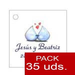 Imagen Etiquetas personalizadas Etiqueta Modelo B07 (Paquete de 35 etiquetas 4x4)