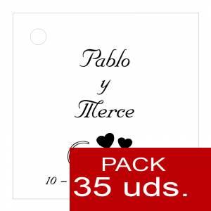 Etiquetas personalizadas - Etiqueta Modelo C01 (Paquete de 35 etiquetas 4x4)