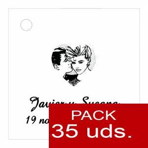 Etiquetas personalizadas - Etiqueta Modelo E04 (Paquete de 35 etiquetas 4x4)