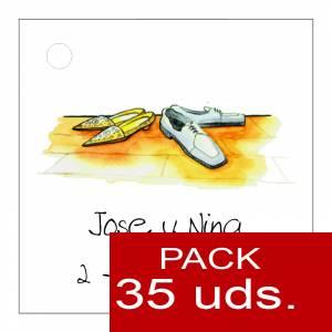 Etiquetas personalizadas - Etiqueta Modelo E05 (Paquete de 35 etiquetas 4x4)