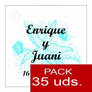 Etiquetas personalizadas - Etiqueta Modelo E12 (Paquete de 35 etiquetas 4x4)