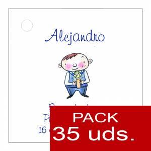 Etiquetas personalizadas - Etiqueta Modelo E17 (Paquete de 35 etiquetas 4x4)