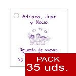 Imagen Etiquetas personalizadas Etiqueta Modelo E19 (Paquete de 35 etiquetas 4x4)