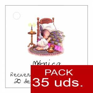 Etiquetas personalizadas - Etiqueta Modelo E21 (Paquete de 35 etiquetas 4x4)