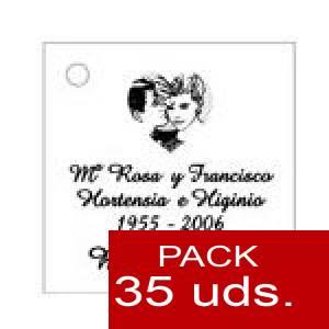 Imagen Etiquetas personalizadas Etiqueta Modelo F01 (Paquete de 35 etiquetas 4x4)