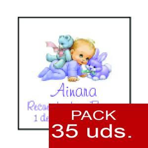 Imagen Etiquetas personalizadas Etiqueta Modelo F21 (Paquete de 35 etiquetas 4x4)