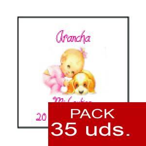 Imagen Etiquetas personalizadas Etiqueta Modelo F23 (Paquete de 35 etiquetas 4x4)