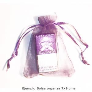 Imagen Tamaño 07x09 cms Bolsa de organza Crema o Beige 7x9 - capacidad 7x7.5 cms.