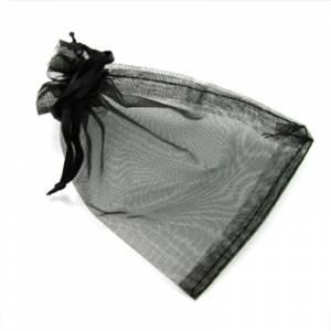 Imagen Tamaño 09x12 cms. Bolsa de organza Negra 9x12 capacidad 9x9 cms.