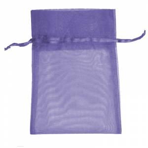 Imagen Tamaño 14x17 cms. Bolsa de organza Morada 14x17 capacidad 13x13 cms.