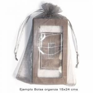 Imagen Tamaño 15.5x24 cms. Bolsa de organza 15,5x24 capacidad 15x20 cms.