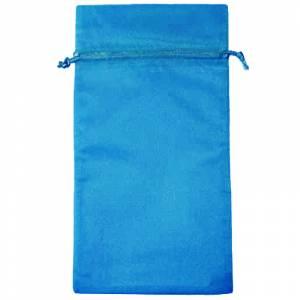 Tamaño 15x36 cms. - Bolsa de organza Azul Francia 15x36 capacidad 15x31 cms.