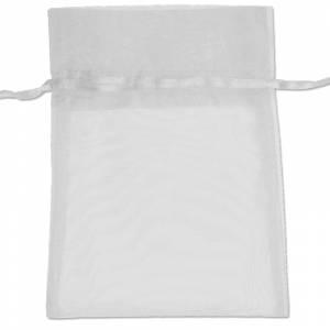 Tamaño 22x32 cms. - Bolsa de organza Blanca 22x32 capacidad 21x30 cms.