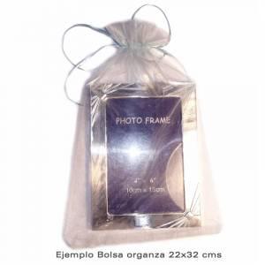 Imagen Tamaño 22x32 cms. Bolsa de organza Dorada 22x32 capacidad 21x30 cms.