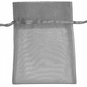 Tamaño 22x32 cms. - Bolsa de organza Gris Plata 22x32 capacidad 21x30 cms.