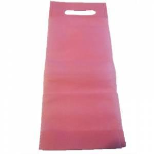 Tamaño 37.5x49.5 con asa - Bolsa de textil no tejido (NON WOVEN) ROSA CLARO para vino (medidas 32 x 13 cm - capacidad 27 x 11,5 cm)