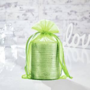 Tama�o 15.5x24 cms. - Bolsa de organza Verde 15,5x24 capacidad 15x20 cms.