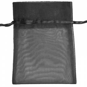 Tamaño 22x32 cms. - Bolsa de organza Negra 22x32 capacidad 21x30 cms.