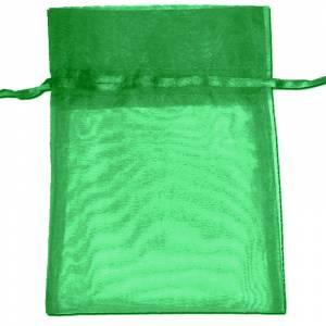 Tamaño 22x32 cms. - Bolsa de organza Verde Oscuro 22x32 capacidad 21x30 cms.